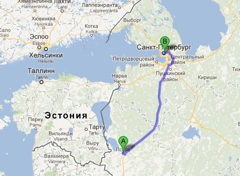 Расстояние от питера до москвы - f